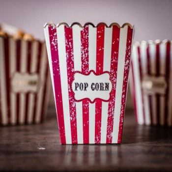 8 BOITES A POP CORN CIRCUS...