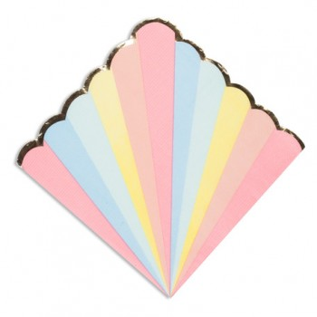 16-Serviettes-papier-33-cm-Berlingot-multicolore-et-or-Point-Fêtes-10407