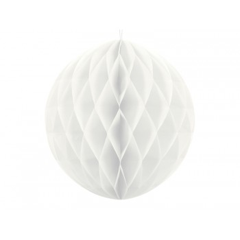 Boule-alvéolée-30cm-Blanc-Point-Fêtes-Party-Déco-KB20-008