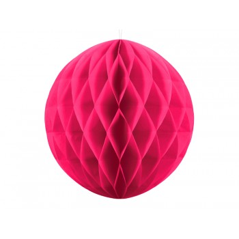 Boule-alvéolée-30cm-Fuchsia-Point-Fêtes-Party-Déco-KB20-006