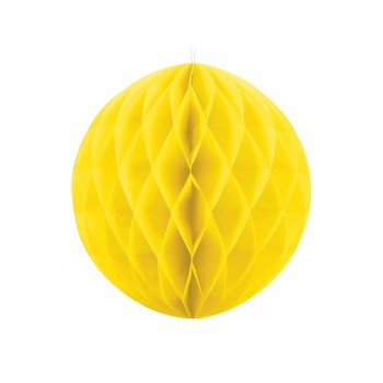 Boule-alvéolée-30cm-Jaune-Point-Fêtes-Party-Déco-KB20-084