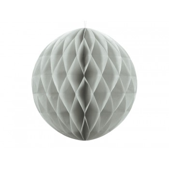 Boule-alvéolée-30cm-Gris-Point-Fêtes-Party-Déco-KB20-091J
