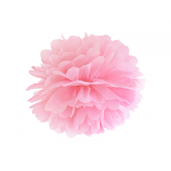 Pompon-papier-Rose-pâle-35cm-Point-Fêtes-PP35-081