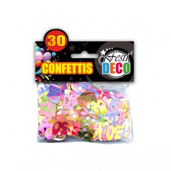 Confettis-Table-30-Ans-Point-Fêtes-Sud-Trading-CD5094-30