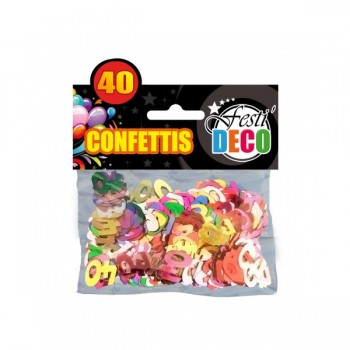 Confettis-Table-40-Ans-Point-Fêtes-Sud-Trading-CD5094-40