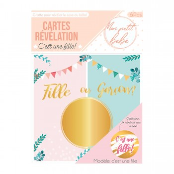 6-Cartes-à-gratter-annonce-sexe-de-bébé-Fille-Point-Fêtes-Gender-reveal-cd5236