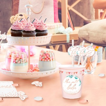 12 PAILLES BABY SHOWER FILLE