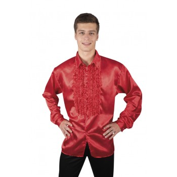 CHEMISE DISCO HOMME - ROUGE...