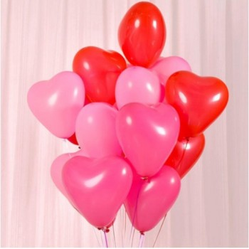 10 BALLONS COEURS ROUGES A...