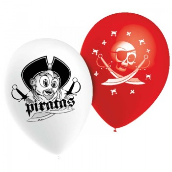 10 BALLONS PIRATES EN LATEX...