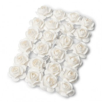 24 ROSES BLANCHES 21 MM -...