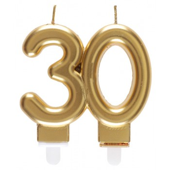 BOUGIE 30 ANS OR