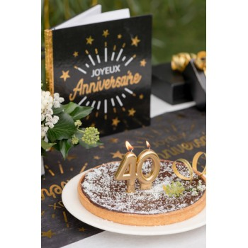 BOUGIE 40 ANS OR