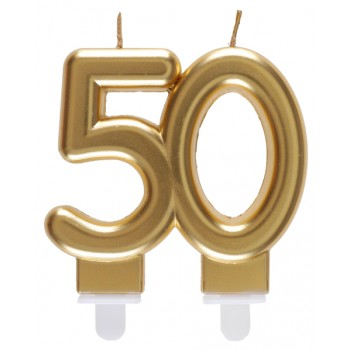 BOUGIE 50 ANS OR