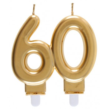 BOUGIE 60 ANS OR