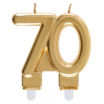 BOUGIE 70 ANS OR