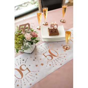CHEMIN DE TABLE ROSE GOLD...