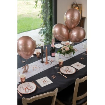 6 BALLONS 60 ANS ROSE GOLD