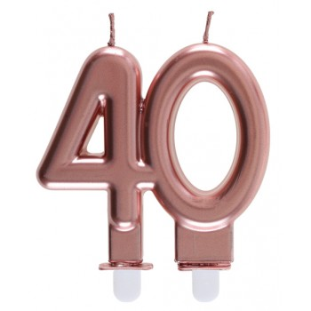 BOUGIE 40 ANS ROSE GOLD
