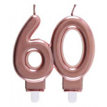 BOUGIE 60 ANS ROSE GOLD