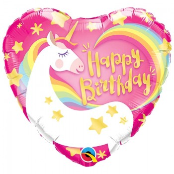 BALLON COEUR HAPPY BIRTHDAY...