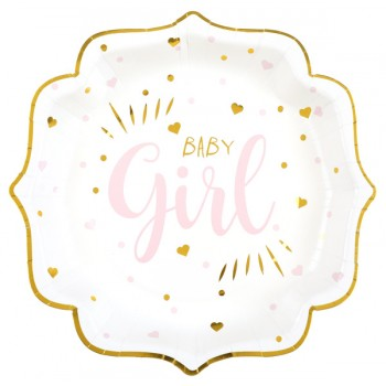 10 ASSIETTES BABY GIRL
