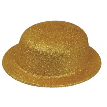 CHAPEAU MELON PAILLETTES - OR