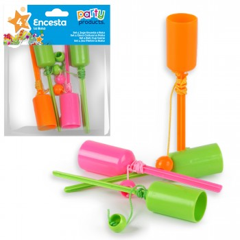 JEU MINI BILBOQUET - 4 PIECES