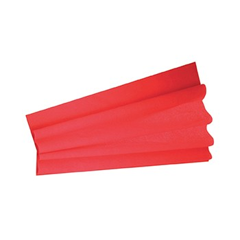 FEUILLE CREPON ROUGE 50 CM...