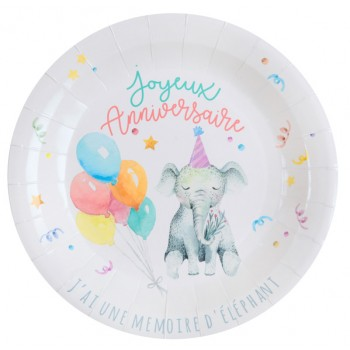 10 ASSIETTES ZOO PARTY